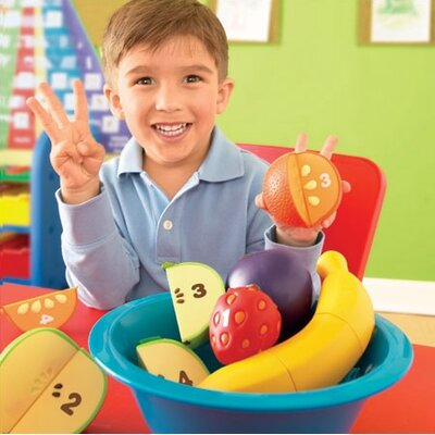 Learning Resources Smart Snacks Counting Fun Fruit Bowl 16 Piece Set