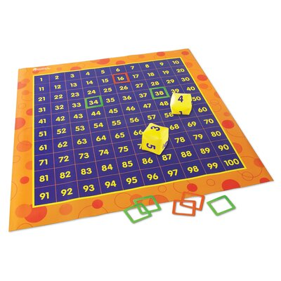 Learning Resources Hip Hoppin' Hundred Mat 78 Piece Set