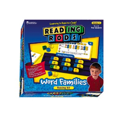 Learning Resources Reading Rods Word Families Kit Gr 1