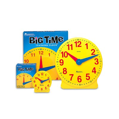 Learning Resources Big Time Clock Student 12 Hr 5