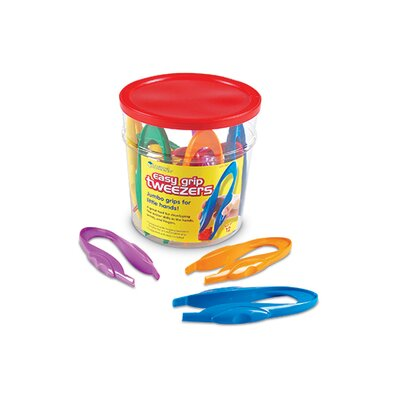 Learning Resources Easy Grip Tweezers 12 Piece Set