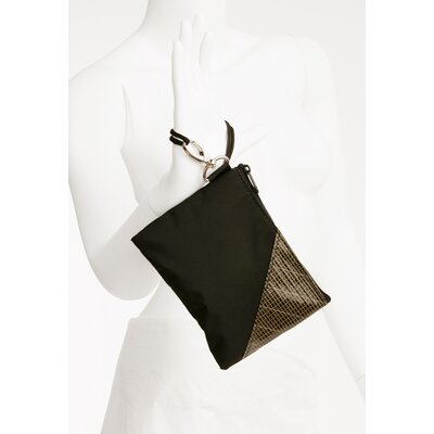 Ella Vickers Rush Street Wristlet in Black with Kevlar Trim