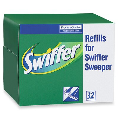 Proctor & Gamble Swiffer Refill Dry Cloths, 32 per Box