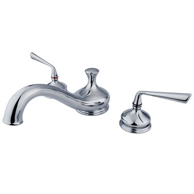 Elements of Design Double Handle Deck Mount Roman Tub Faucet Trim Metal Lever Handle