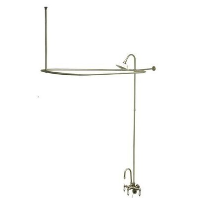 Elements of Design Vintage Volume Control Tub and Shower Faucets with Porcelain Lever Handles