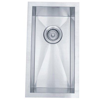 "Elements of Design 20"" x 11"" Towne Square Rectangular Undermount Single Bowl Kitchen Sink"