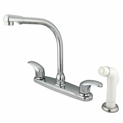 Victorian Double Handle Centerset High Arch Kitchen Faucet with Legacy Lever Handles