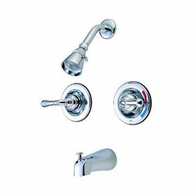 Elements of Design St. Charles Pressure Balanced Volume Control Tub and Shower Faucet