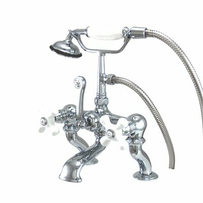 Elements of Design Hot Springs Deck Mount Clawfoot Tub Faucet with Handshower