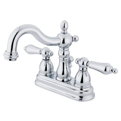 Elements of Design New Orleans Centerset Bathroom Sink Faucet with Double Metal Lever Handles