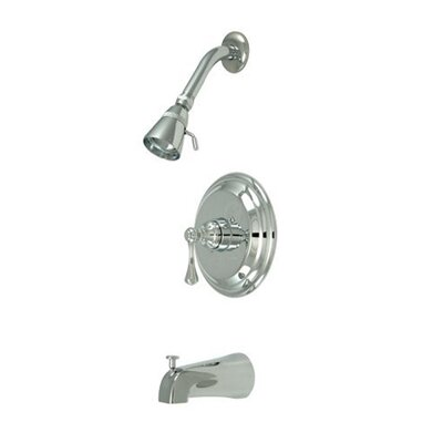 Elements of Design Volume Control Tub and Shower Faucet with Buckingham Lever Handles