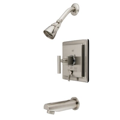 Elements of Design Volume Control Tub and Shower Faucet with Metal Lever Handles