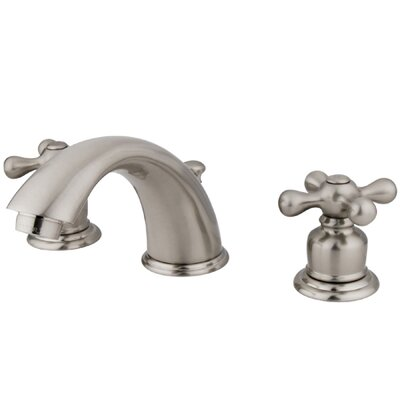 Elements of Design Widespread Bathroom Faucet with Double Metal Cross Handles