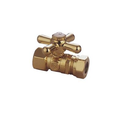 Elements of Design Decorative Quarter Turn Valve with Cross Handle