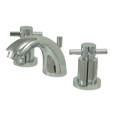 Elements of Design South Beach Double Cross Handle Mini-Widespread Bathroom Faucet