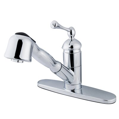 Elements of Design Single Handle Centerset Kitchen Faucet