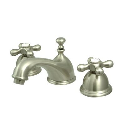 Elements of Design Widespread Bathroom Faucet with Double Cross Handles
