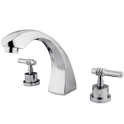 Elements of Design Double Handle Deck Mount Roman Tub Faucet