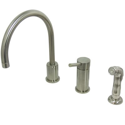 Elements of Design Widespread Kitchen Faucet with Metal Handle