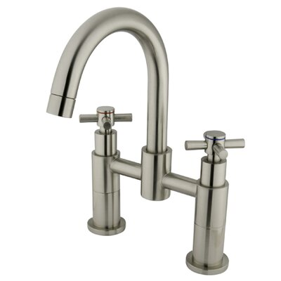 Elements of Design Two Handle Deck-Mount Diverter Tub and Shower Faucet