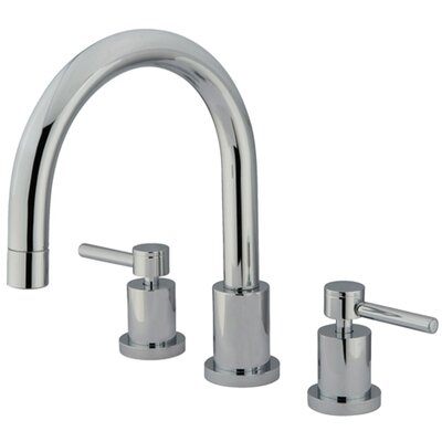 Elements of Design Double Handle Deck Mount Roman Tub Faucet Trim Concord Cross Handle