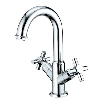 Elements of Design Nuvo Single Hole Bathroom Faucet with Double Cross Handles