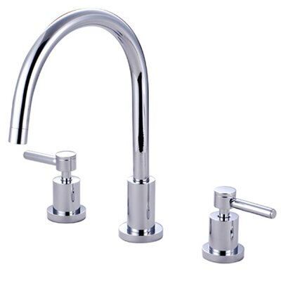 South Beach Double Handle Widespread Kitchen Faucet
