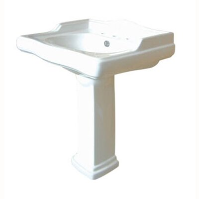 Center Pedestal Bathroom Sink - EVPB4278
