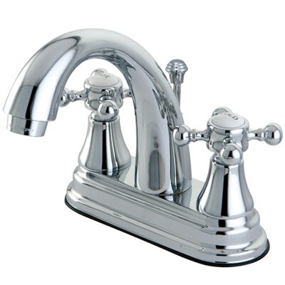 Elements of Design Elizabeth Centerset Bathroom Faucet with Double Cross Handles