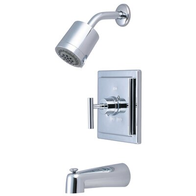 Elements of Design Manhattan Volume Control Tub and Shower Faucet Single Handle