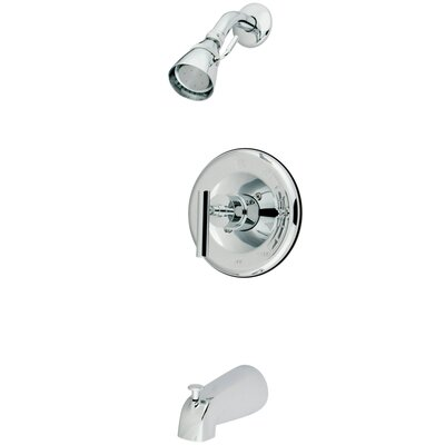 Elements of Design Manhattan Volume Control Tub and Shower Faucet