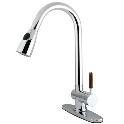 Wilshire Single Handle Kitchen Faucet with Pull-Down Sprayer