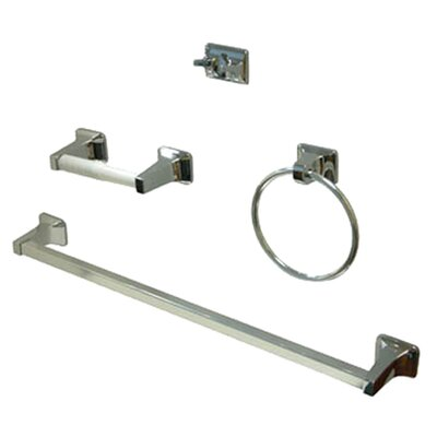 <strong>Elements of Design</strong> American 4 Piece Bathroom Hardware Set