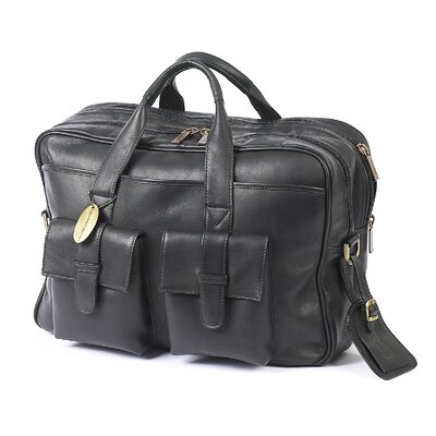 Platinum Leather Laptop Briefcase