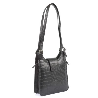 Sevilla Crocodile Embossed Shoulder Bag