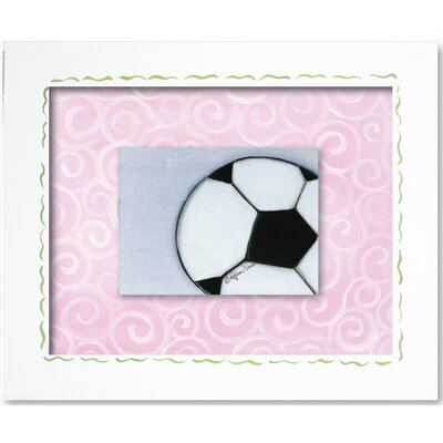Sports Soccer Ball Framed Giclee Wall Art