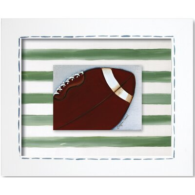Doodlefish Sports Football Framed Giclee Wall Art