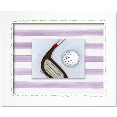 Doodlefish Sports Golf Framed Giclee Wall Art
