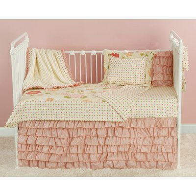 Doodlefish Rose Garden Toddler Coverlet and Pillow