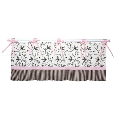 Doodlefish Sweet Dreams Tab Top Ruffled Curtain Valance