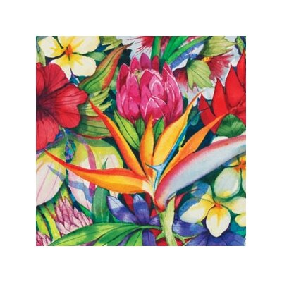 "Magic Slice 12"" x 15"" Tropical Floral Design Cutting Board"