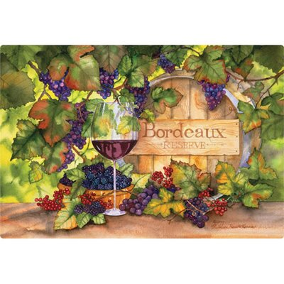 "Magic Slice 7.5"" x 11""  Bordeaux Design Cutting Board"