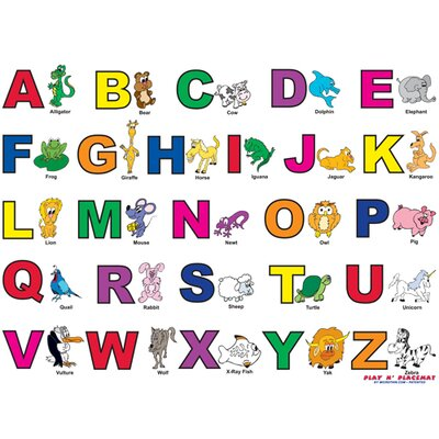 Magic Slice Alphabet Play n' Placemat