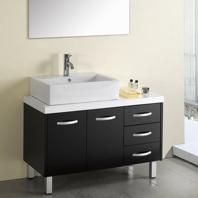 "Virtu Tilda 39.4"" Single Bathroom Vanity Set"