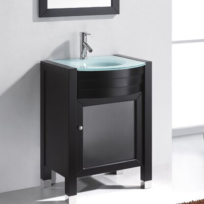 "Virtu Ultra Modern 23.6"" Ava Single Bathroom Vanity Set"