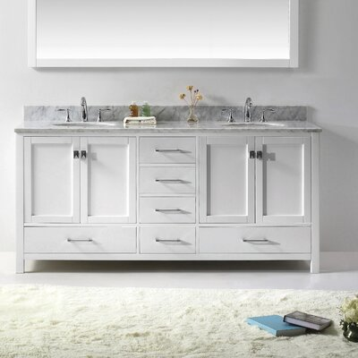 "Virtu Caroline Avenue 72.8"" Double Sink Bathroom Vanity Set"