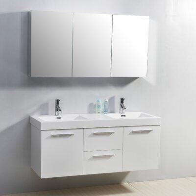 """Virtu Midori 54"""" Double Bathroom Vanity Set"""