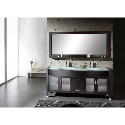 "Virtu Ava 63"" Double Bathroom Vanity Set"