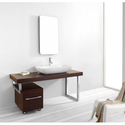 Virtu Lyle Single 60&quot; Bathroom Vanity Set in Walnut