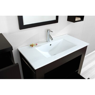 "Virtu Masselin Single 36"" Bathroom Vanity Set in Espresso"